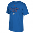 "Oklahoma City Thunder Adidas NBA ""Play Through"" Men's Short Sleeve T-Shirt"