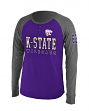 "Kansas State Wildcats NCAA ""Spotter"" Long Sleeve Dual Blend Men's Henley Shirt"
