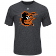 "Baltimore Orioles Majestic MLB ""Far Beyond"" Cool Base Heathered Men's T-Shirt"