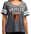 "Baltimore Orioles Women's Majestic MLB ""Loving The Game"" Dual Blend Shirt"