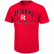 """Rutgers Scarlet Knights NCAA """"Contour"""" Men's Short Sleeve Distressed T-Shirt"""