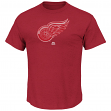 """Detroit Red Wings Majestic NHL """"Raise the Level"""" Men's Heathered S/S T-Shirt"""