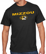 "Missouri Tigers Majestic NCAA ""Workmark & Logo"" Men's S/S T-Shirt"