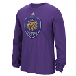 "Orlando City SC Adidas MLS ""High End Patch"" Men's Long Sleeve T-Shirt"
