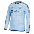 Sporting Kansas City Adidas MLS Men's Authentic On-Field Climalite L/S Jersey