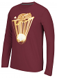 """Cleveland Cavaliers Adidas NBA """"Glow Explode"""" Climalite Performance L/S Shirt"""