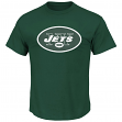 "New York Jets Majestic NFL ""Critical Victory 2"" Men's T-Shirt - Green"