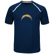 "San Diego Chargers Majestic NFL ""Fanfare 8"" Men's Short Sleeve Cool Base Shirt"