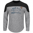"Chicago Bears Majestic NFL ""Corner Blitzer"" Men's Long Sleeve Gray Slub Shirt"