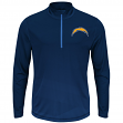"""San Diego Chargers Majestic NFL """"Intimidating"""" 1/2 Zip Mock Neck Pullover Shirt"""