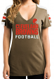 "Cleveland Browns Women's Majestic NFL ""Pride Playing"" V-neck Fashion Top"