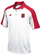 North Carolina State Wolfpack Adidas NCAA Sideline Climalite Polo Shirt - White