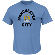 "Manchester City FC Majestic ""Official Logo"" Men's Short Sleeve T-Shirt"