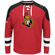 "Ottawa Senators Majestic NHL ""Centre"" Men's Pullover Crew Sweatshirt"