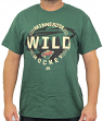 "Minnesota Wild Majestic NHL ""Clearing the Puck"" Short Sleeve Men's T-Shirt"