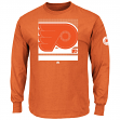 "Philadelphia Flyers Majestic NHL ""Slashing"" Long Sleeve Men's T-Shirt"