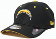 San Diego Chargers New Era NFL 39THIRTY Black Flex Fit Hat