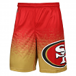 "San Francisco 49ers NFL ""Gradient"" Men's Polyester Training Shorts"