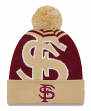"Florida State Seminoles New Era NCAA ""Logo Whiz 2"" Cuffed Knit Hat with Pom"