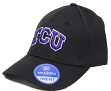 "TCU Horned Frogs NCAA TOW ""Rails Black"" Stretch Fit Performance Mesh Hat"