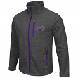 "TCU Horned Frogs NCAA ""Backfield 2"" Full Zip Men's Heather Charcoal Jacket"