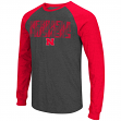 "Nebraska Cornhuskers NCAA ""Olympus"" Long Sleeve Raglan Shirt - Charcoal"