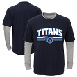 """Tennessee Titans Youth NFL """"Bleachers"""" L/S Faux Layer Thermal Shirt"""
