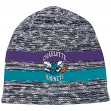 "Charlotte Hornets Mitchell & Ness NBA ""Static"" Cuffless Tri-Blend Knit Hat"