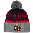 "Chicago Blackhawks Mitchell & Ness NHL ""Snowflake"" Retro Cuffed Knit Hat"