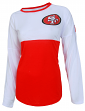 "San Francisco 49ers Women's NFL ""Vortex"" Long Sleeve Fashion Shirt"