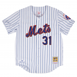 Mike Piazza New York Mets Mitchell & Ness Authentic MLB 2000 Button Up Jersey