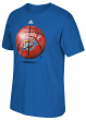 "Oklahoma City Thunder Adidas NBA ""Logo Ball"" Premium Print S/S Men's T-Shirt"