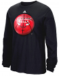 "Chicago Bulls Adidas NBA ""Logo Ball"" Premium Print L/S Men's T-Shirt"