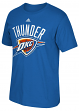 "Oklahoma City Thunder Adidas NBA ""Cut The Net"" Premium Print S/S Men's T-Shirt"
