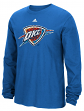 "Oklahoma City Thunder Adidas NBA ""Tech Quilt"" Premium Print L/S Men's T-Shirt"