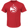 "Atlanta Hawks Majestic NBA ""Supreme Logo"" Men's Short Sleeve T-Shirt - Red"