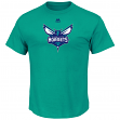 "Charlotte Hornets Majestic NBA ""Supreme Logo"" Men's Short Sleeve T-Shirt - Teal"