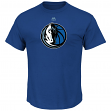 "Dallas Mavericks Majestic NBA ""Supreme Logo"" Men's Short Sleeve T-Shirt - Blue"