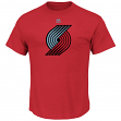 "Portland Trail Blazers Majestic NBA ""Supreme Logo"" Men's Short Sleeve T-Shirt"