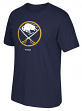 "Buffalo Sabres Reebok NHL ""Jersey Crest"" Men's Short Sleeve Navy T-Shirt"
