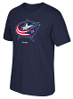 "Columbus Blue Jackets Reebok NHL ""Jersey Crest"" Men's Short Sleeve Navy T-Shirt"