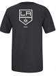 "Los Angeles Kings Reebok NHL ""Jersey Crest"" Men's Short Sleeve Black T-Shirt"