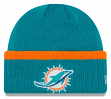 """Miami Dolphins New Era NFL """"Ribbed Up Team"""" Cuffed Knit Hat"""
