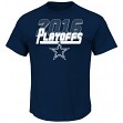 Dallas Cowboys Majestic 2016 NFL Playoffs Men's Short Sleeve Navy T-Shirt