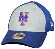 "New York Mets New Era MLB 39THIRTY ""Heathered Gray Neo"" Flex Fit Hat"