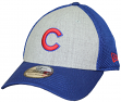 "Chicago Cubs New Era MLB 39THIRTY ""Heathered Gray Neo"" Flex Fit Hat - C Logo"