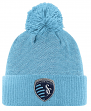 Sporting Kansas City Adidas MLS 2017 Authentic Cuffed Knit Hat with Pom