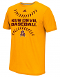 "Arizona State Sun Devils Adidas NCAA ""Big Stitches"" Men's Climalite S/S T-Shirt"