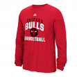 "Chicago Bulls Adidas NBA ""Rep Big"" Men's Long Sleeve T-Shirt"