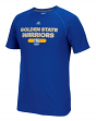 """Golden State Warriors Adidas NBA """"Reflective Authentic"""" Men's Climalite T-Shirt"""